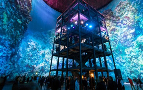 Explore The Great Barrier Reef Inside A Giant Gas Tank