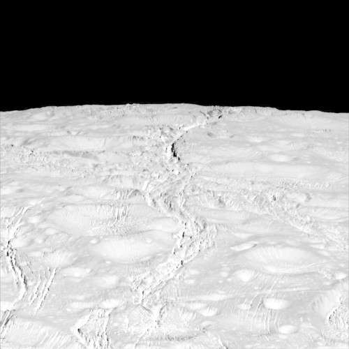 Saturn's Icy Moon Enceladus Is Covered In Tiny Cracks