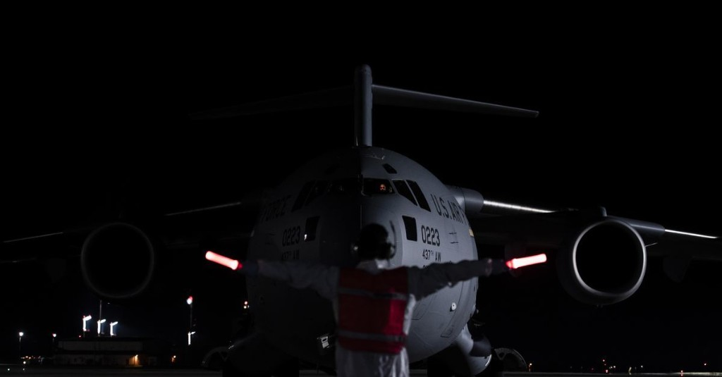 First mission for the Air Force's flying hospital pods: Pulling COVID-19 patients from Afghanistan