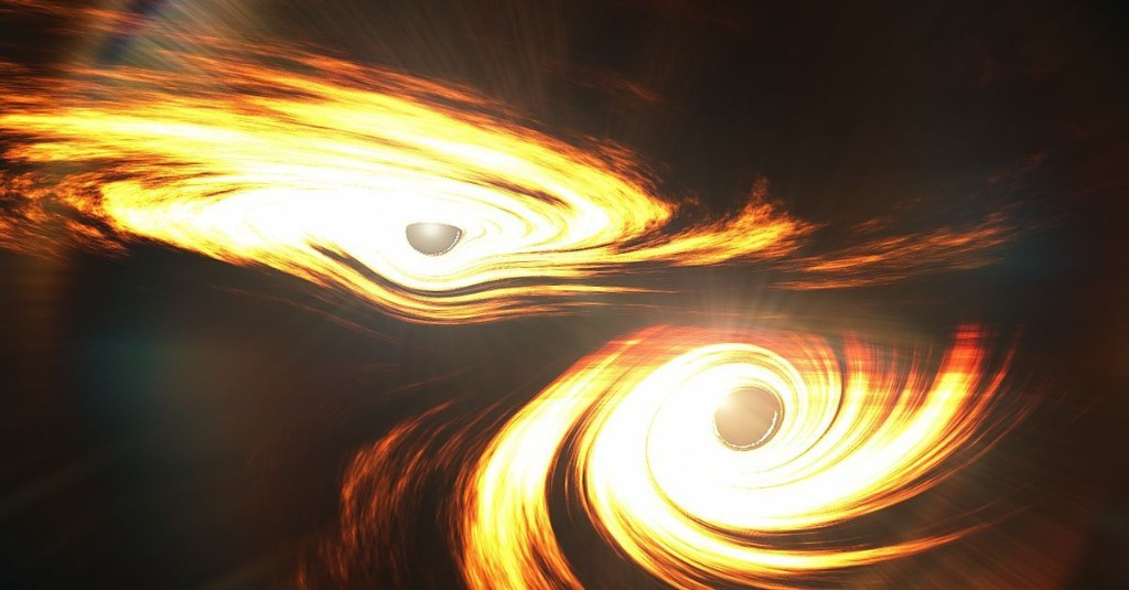 These black holes collided so hard they made space-time jiggle