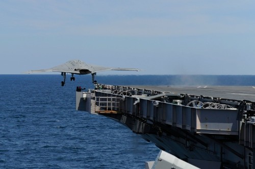 Autonomous X-47B Jet Fighter Makes Historic First Launch From An Aircraft Carrier