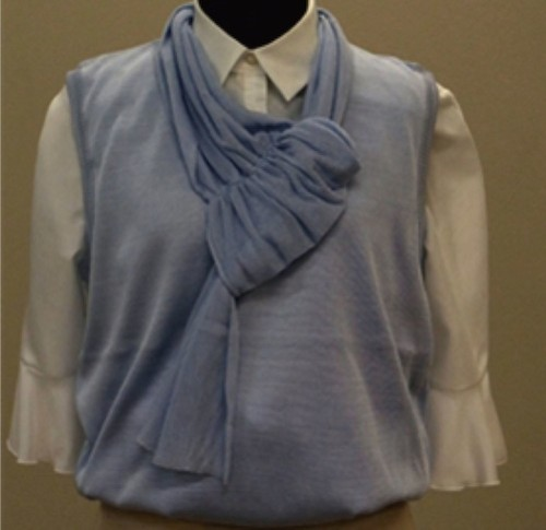 Vest And Scarf Made From Spider Silk