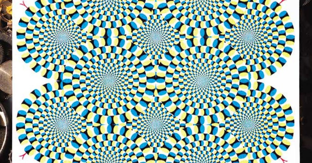 Something in our brain is making these spirals look like they are moving
