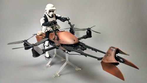 Star Wars Toy Converted Into Working Speeder Bike Drone