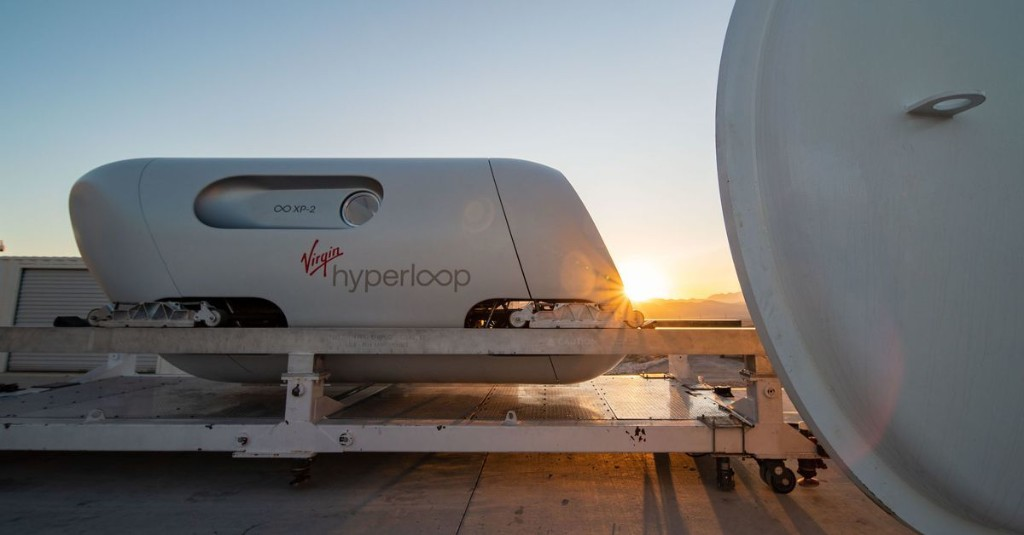 The first hyperloop passengers just took a short but important ride