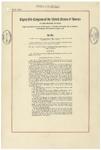 Check Out The Document That Created NASA