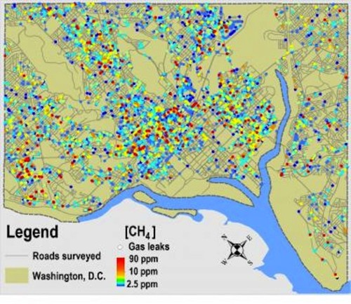 Scientists Sniff Out Nearly 6,000 Gas Leaks In Washington, D.C.