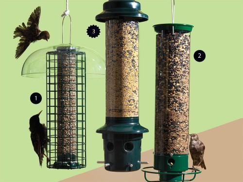 These bird feeders won't get raided by squirrels