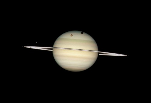 Saturn's Rings And Moons May Have Been Born When Dinosaurs Roamed The Earth