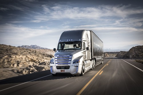 The First Self-Driving Truck Takes To The Streets Of Nevada
