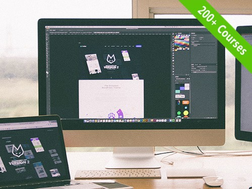 Get lifetime access to over 200 courses on design and digital creativity