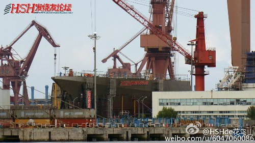 China's Largest Surface Warship Takes Shape