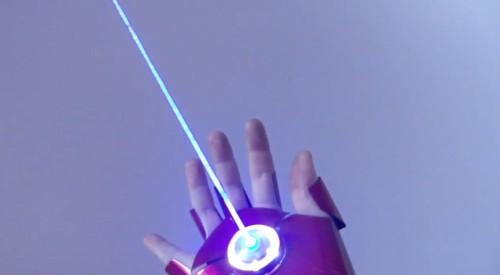 Homemade Iron Man Glove Fires Lasers