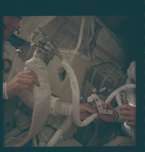 These Apollo pictures show the crowded life of lunar astronauts