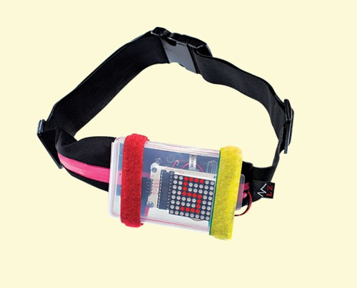 A Shining Speed Belt for Safer Twilight Jogs