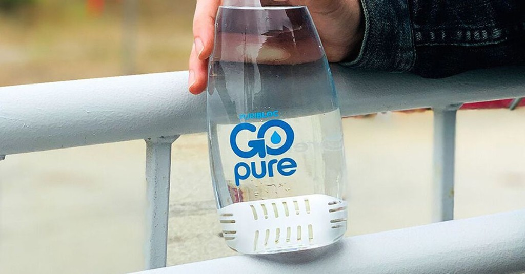 Skip the plastic bottle with this portable water filter