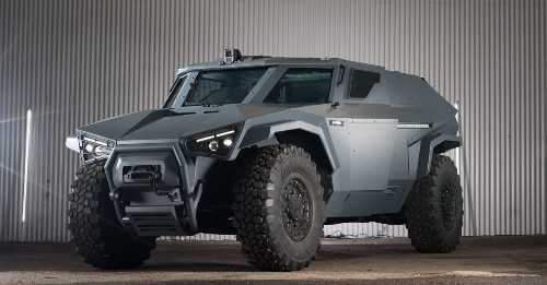 Volvo's new military vehicle can drive sideways, like a crab