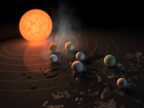 A whopping seven Earth-size planets were just found orbiting a nearby star