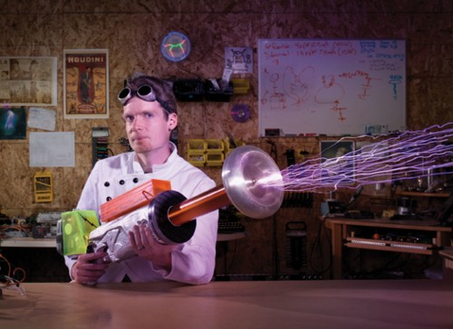 You Built What?!: A Tesla Coil Gun That Produces Foot-Long Sparks