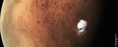 See A Glorious New Image Of Mars' South Pole