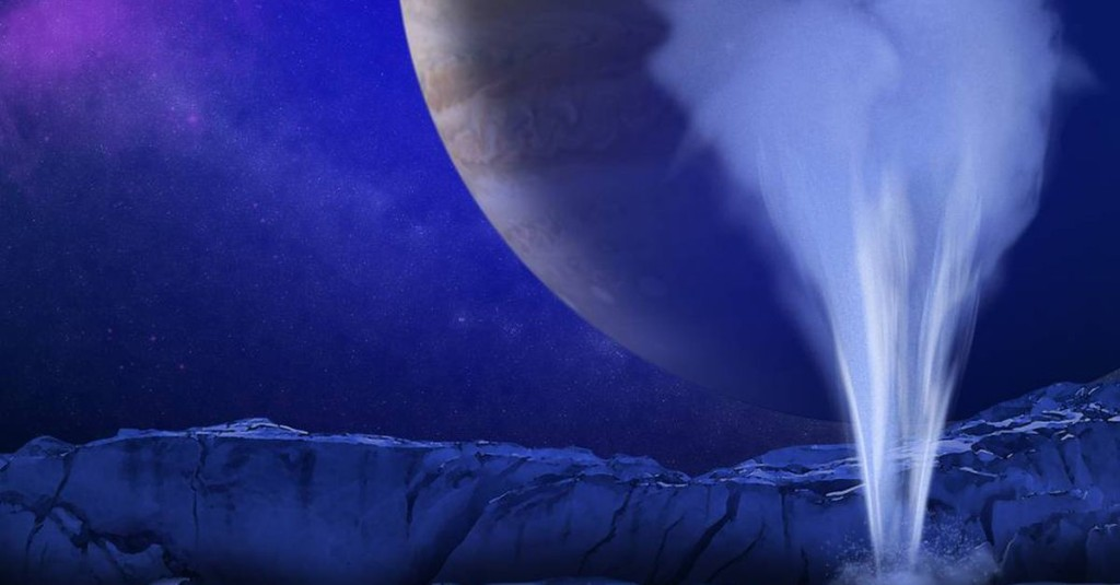 Evidence of life on Jupiter's moon Europa could be just inches below the surface
