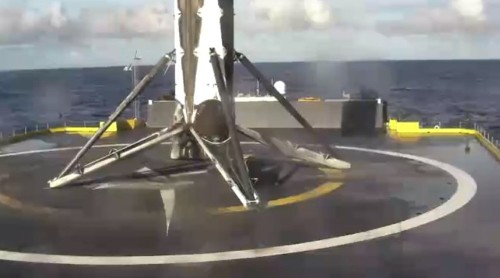 SpaceX Lands Its Fourth Rocket