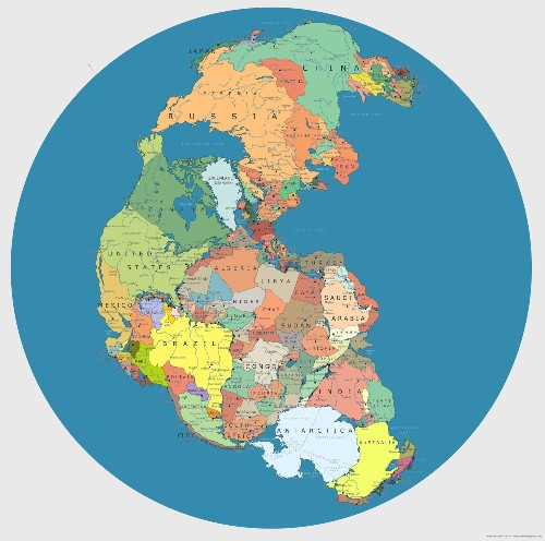 What Pangaea Would Look Like With Today's Political Boundaries [Infographic]
