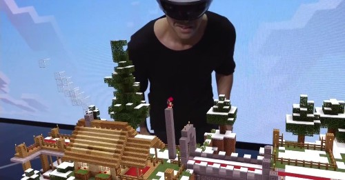 Microsoft Unveils Holographic Minecraft at E3 Demo