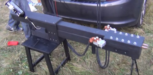 Amateur Hobbyists Fire A Muzzle Loading Railgun