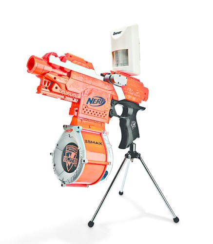 Defend Your Cubicle With A Nerf Sentry Gun
