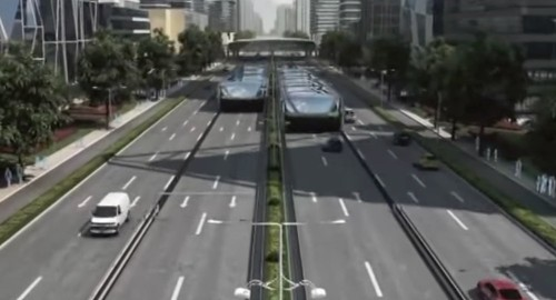 China Will Test A 'Straddle Bus' That Drives Over Cars