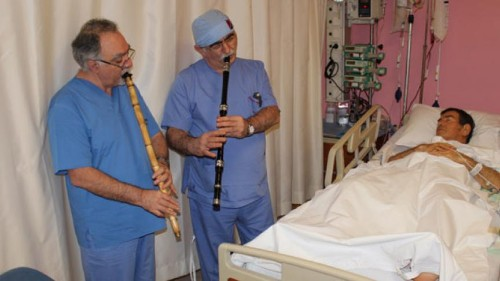 In Turkey, Sufi music is used to decrease patient stress