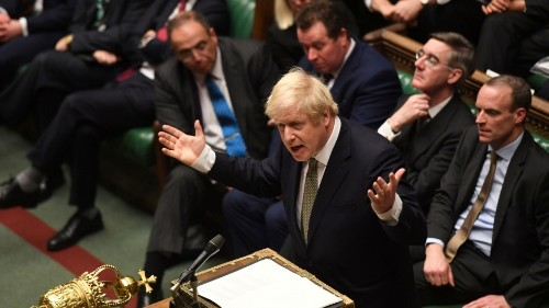 UK Prime Minister Boris Johnson promises to wrap up parliament Brexit vote for Christmas
