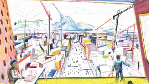 This surrealist graphic novel delves into architecture and social change