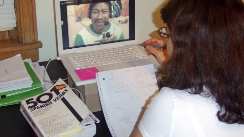 This Spanish teacher in Guatemala doesn't need to move to the US for a better job, he's got Skype