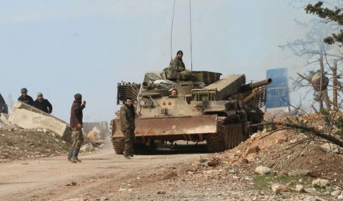 Syrian forces consolidate control of Aleppo, air strikes under way