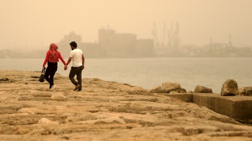 A deadly sandstorm is sweeping across the Middle East