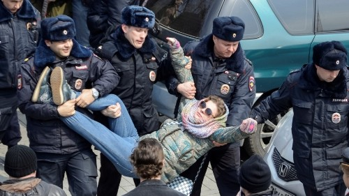 Russia's weekend protesters were young, organized, and ready to challenge Putin