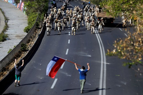 PHOTOS: Chile's Piñera extends state of emergency, says 'we are at war'