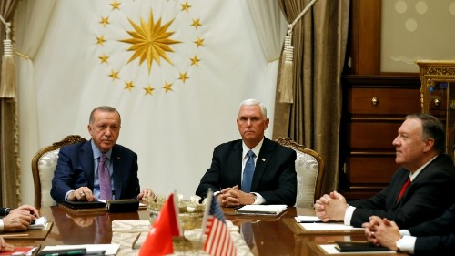 Turkey agrees with US to pause Syria assault while Kurds withdraw