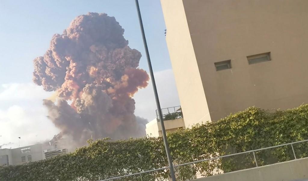 Large blast in Beirut port area rocks Lebanon's capital, many people hurt