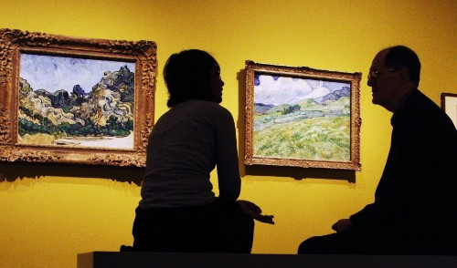Why are van Gogh's paintings slowly turning white?