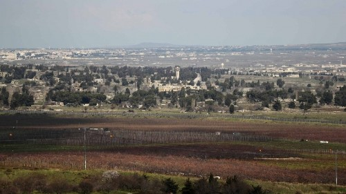 Trump tweet calls for US to recognize Israeli sovereignty in Golan Heights