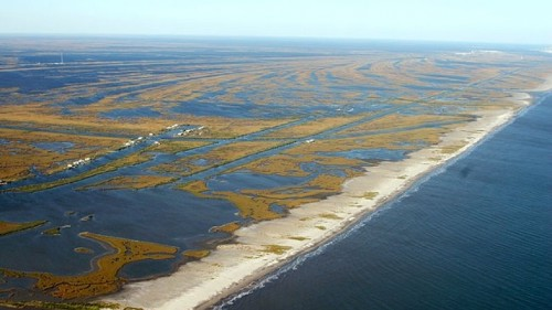 Louisiana's coastline is disappearing at the rate of a football field an hour