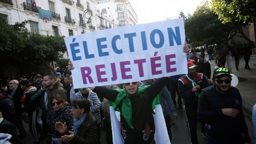 Algerians protesting elections want real reform, not a military junta, analyst says