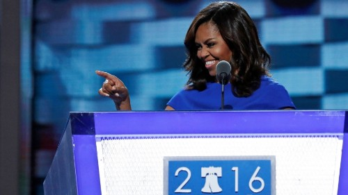 Politics makes her uncomfortable. But Michelle Obama was political long before Monday night.