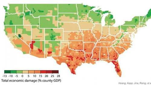Global warming will increase poverty in the southern US, a new study says