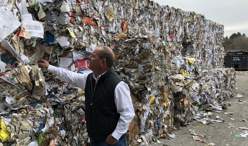 Mountains of US recycling pile up as China restricts imports