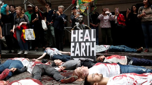 'Sorry, this is an emergency:' Climate protesters block streets around world