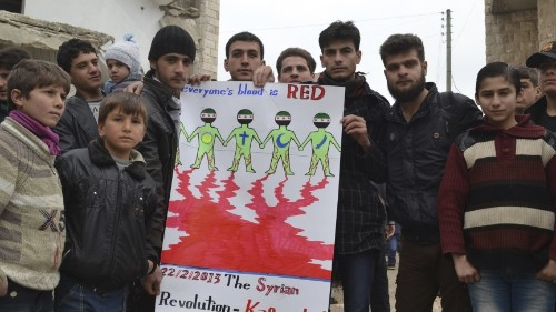 Creative protest help boot extremists out of one Syrian town